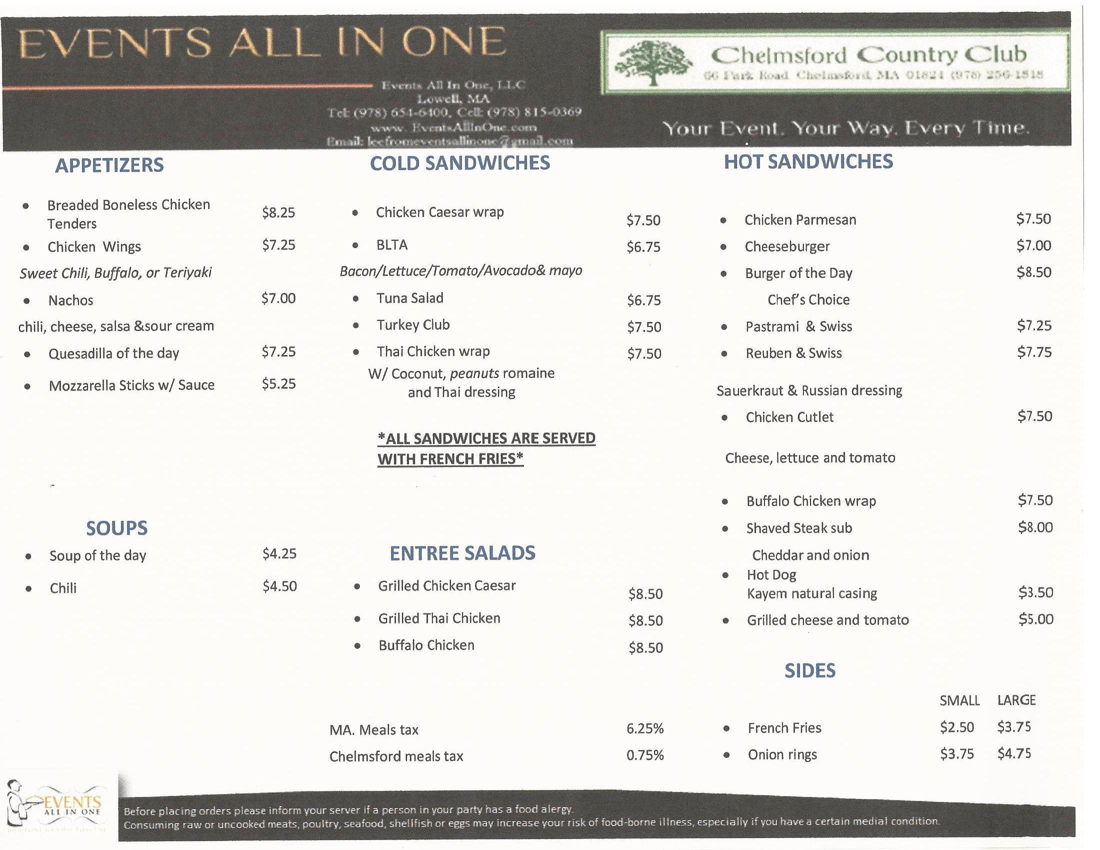 Chelmsford-grill-menu